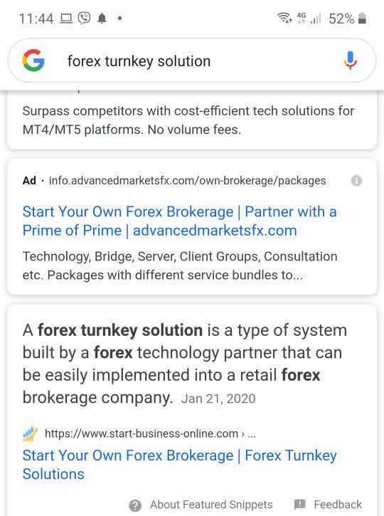 Featured Snippet Forex Turnkey Solutions